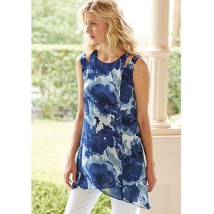 Soft Surroundings Mirabella Floral Tunic Top